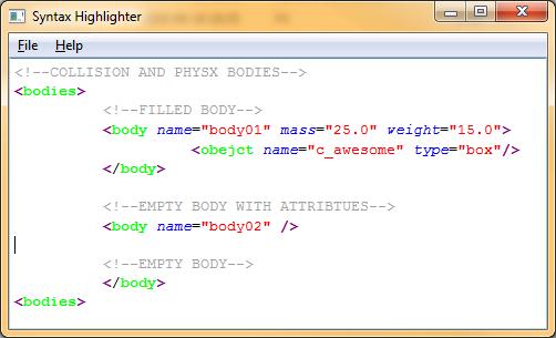 XMLHighlighter